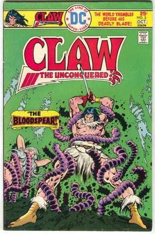 Claw The Unconquered 3 DC 1975 FN VF Ernie Chan Worm Bondage