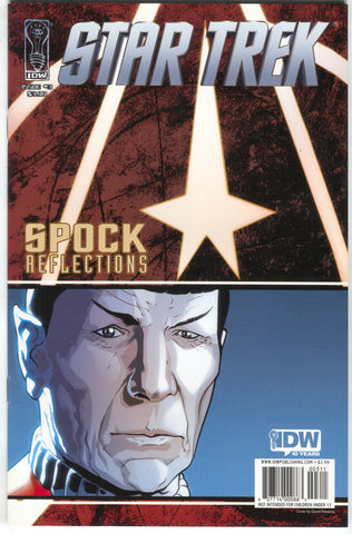 Star Trek Spock Reflections 3 A IDW 2009 NM David Messina