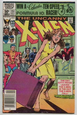 Uncanny X-Men 151 Marvel 1981 Wolverine Colossus Hellfire Club Kitty Pryde