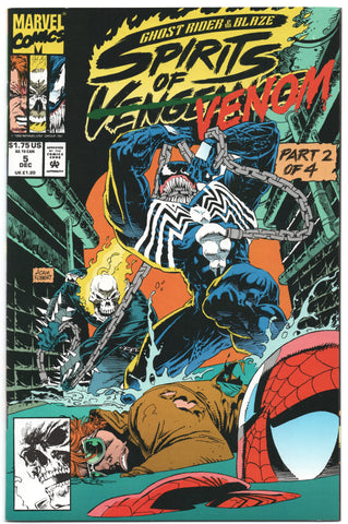 Ghost Rider Blaze Spirits Of Vengeance 5 Marvel 1992 NM Venom Spider-Man