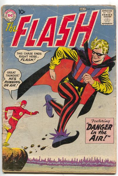 Flash 113 1st Series DC 1960 VG 1st Trickster Mickey Mantle Ad Carmine Infantino