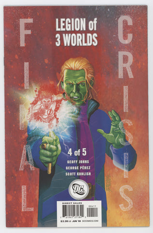 Final Crisis Legion Of Three Worlds #4 B (Of 5) DC 2009 George Perez GeoFF Johns
