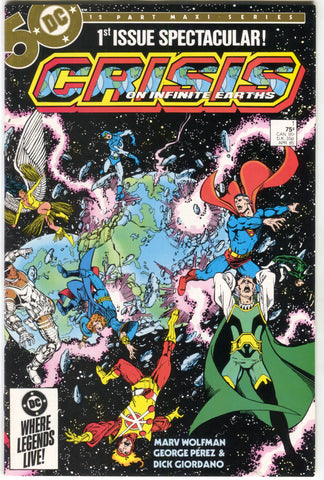 Crisis On Infinite Earths 1 DC 1985 VF NM George Perez Marv Wolfman Superman