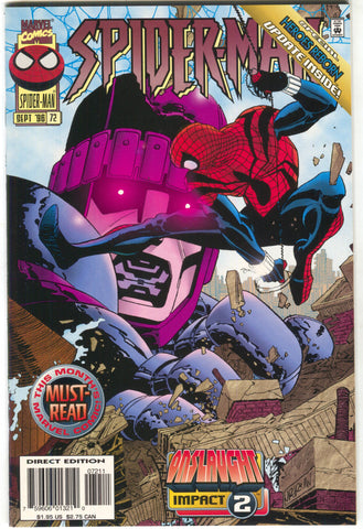 Spider-Man 72 1st Series Marvel 1996 NM John Romita Onslaught Impact 2