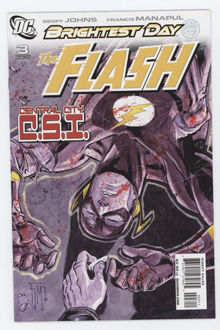 Flash #3 A 3rd Series DC 2010 Francis Manapul GeoFF Johns Brightest Day