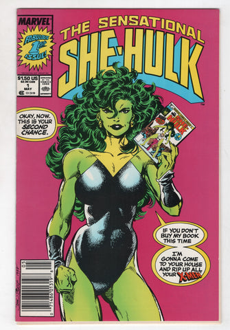 Sensational She-Hulk 1 Marvel 1989 GD John Byrne Savage X-Men Newsstand