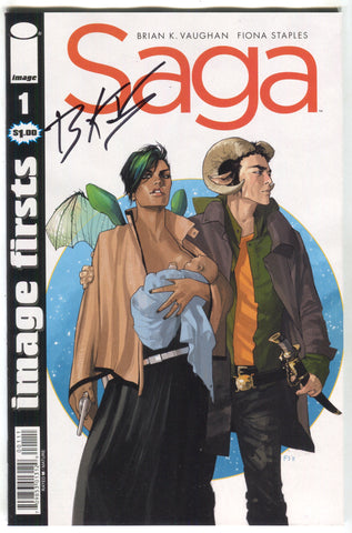 Saga 1 Image Firsts Signed Brian K Vaughan FCBD 2018 COA