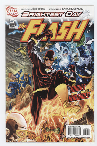 Flash #5 A 3rd Series DC 2010 Francis Manapul GeoFF Johns Brightest Day