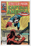 Captain America 375 Marvel 1990 NM Bullseye Daredevil Streets Of Poison