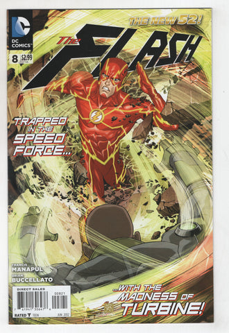 Flash 8 B 4th Series DC 2012 NM New 52 Bernard Chang Variant Francis Manapul