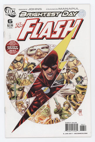 Flash #6 A 3rd Series DC 2010 Francis Manapul GeoFF Johns Brightest Day
