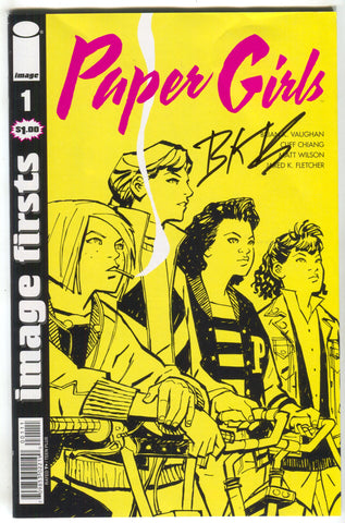 Paper Girls 1 Image Firsts Signed Brian K Vaughan FCBD 2018 COA