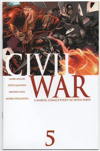 Civil War 5 A Marvel 2006 NM Mark Millar Spider-Man Venom Bullseye