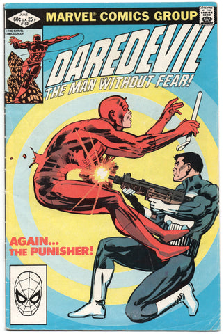 Daredevil 183 Marvel 1982 VG FN Frank Miller Punisher Target Gun Drugs