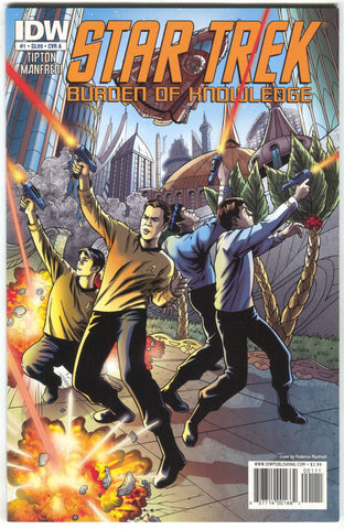 Star Trek Burden Of Knowledge 1 A IDW 2010 NM Federicia Manfredi