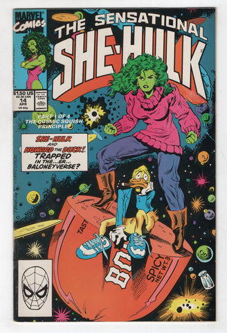 Sensational She-Hulk 14 Marvel 1990 FN Brian Bolland Howard The Duck
