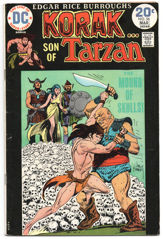 Korak Son Of Tarzan 56 DC 1974 FN Joe Kubert Pile Skulls Edgar Rice Burroughs