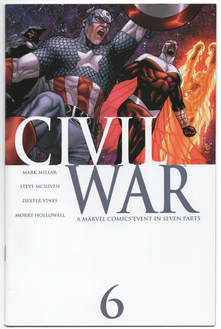 Civil War 6 A Marvel 2006 NM Mark Millar Spider-Man Venom Bullseye
