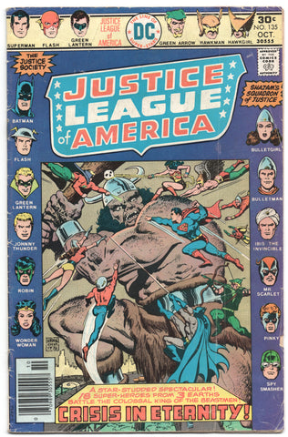 Justice League Of America 135 DC 1976 VG Ernie Chan Batman Superman