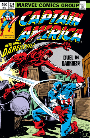 Captain America 234 Marvel 1979 Daredevil Faustus