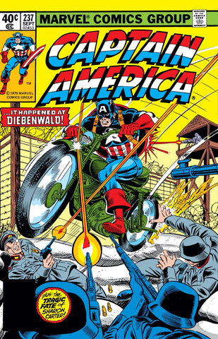 Captain America 237 Marvel 1979 Motorbike Sharon Carter