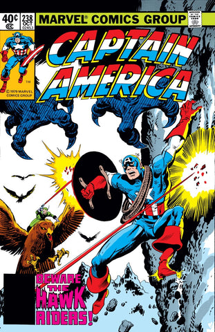 Captain America 238 Marvel 1979 Hawk Riders Snowfall