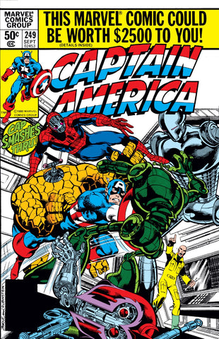 Captain America 249 Marvel 1980 Dragon Man Robots
