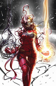 CAPTAIN MARVEL #8 2nd Print 2nd Print In-Hyuk Lee Carnage-ized Color Splash Virgin Variant (08/21/2019) MARVEL