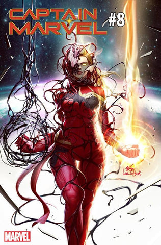 CAPTAIN MARVEL #8 B IN-HYUK LEE CARNAGE-IZED Variant (07/17/2019) MARVEL