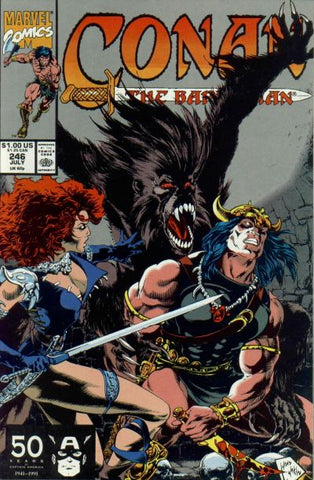 Conan the Barbarian 246 Marvel 1991 Red Sonja Khorajah
