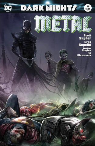 Dark Nights Metal 4 DC 2017 NM Francesco Mattina Variant Batman Who Laughs Joker