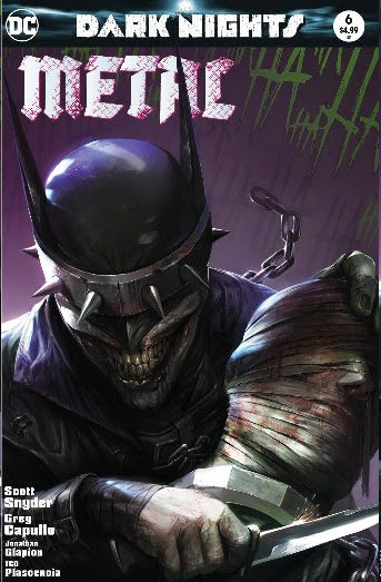 Dark Nights Metal 6 B DC 2018 Francesco Mattina Variant Batman Who Laughs Bloody Knife