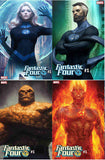 Fantastic Four 1 Marvel Stanley Lau Artgerm Set 4 Invisible Woman Human Torch Thing Variant (08/08/2018)