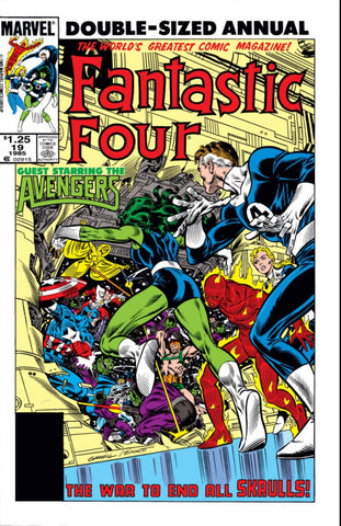 Fantastic Four Annual 19 Marvel 1985 Avengers Skrulls