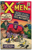 Uncanny X-Men 4 Marvel 1964 VG 1st Quicksilver Scarlet Witch Toad Magneto