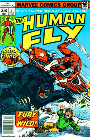 Human Fly 7 Marvel 1977 Bear