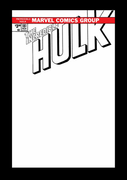 Incredible Hulk 181 Marvel FACSIMILE EDITION 1st Wolverine Blank Sketch Adi Granov BW Variant (03/27/2019)