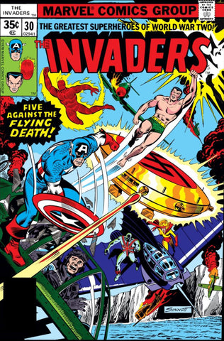Invaders 30 Marvel 1977 Union Jack Flying Death