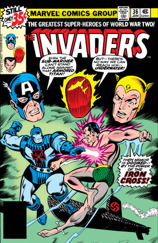 Invaders 36 Marvel 1977 Iron Cross Submarine