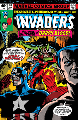 Invaders 40 Marvel 1979 Baron Blood Nazi Vampire
