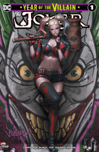 JOKER YEAR OF THE VILLAIN #1 Jeehyung Lee Harley Quinn Graffiti Variant Trade Virgin Set Options (10/09/2019) DC
