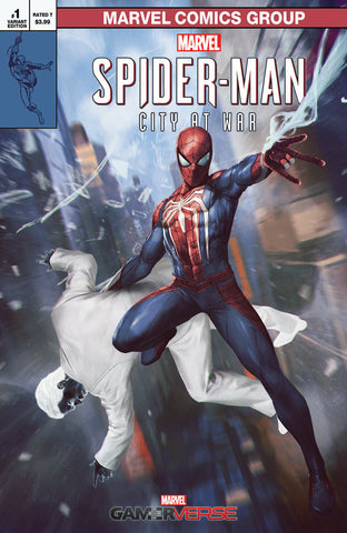 MARVELS SPIDER-MAN CITY AT WAR #1 (OF 6) Skan Srisuwan Variant Amazing Fantasty 15 Homage PS4 (03/20/2019) MARVEL