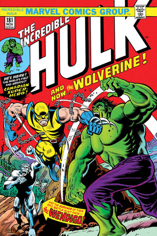 Incredible Hulk 181 Marvel FACSIMILE EDITION 1st Wolverine Len Wein Herb Trimpe (03/20/2019)