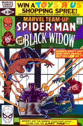 Marvel Team-Up 98 Marvel 1980 Spider-Man Black Widow
