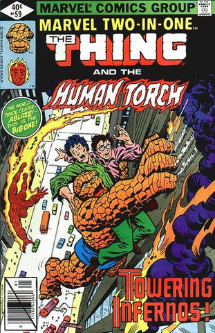 Marvel Two-In-One 59 Thing Human Torch
