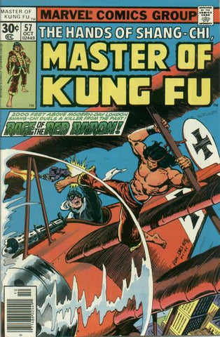 Shang-Chi Master of Kung Fu 57 Marvel 1977 Red Baron