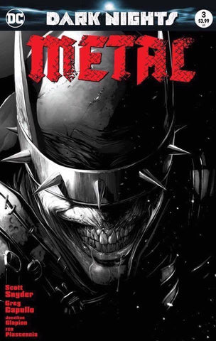 Dark Nights Metal 3 DC 2017 NM Francesco Mattina BW Variant Batman Who Laughs Joker