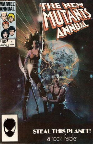 New Mutants Annual 1 Marvel 1984 Rock