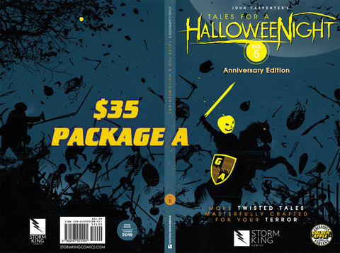 John Carpenter Signing: Book + Line Pass Tales For A Halloween Night Vol 5 Gold Exclusive Variant
