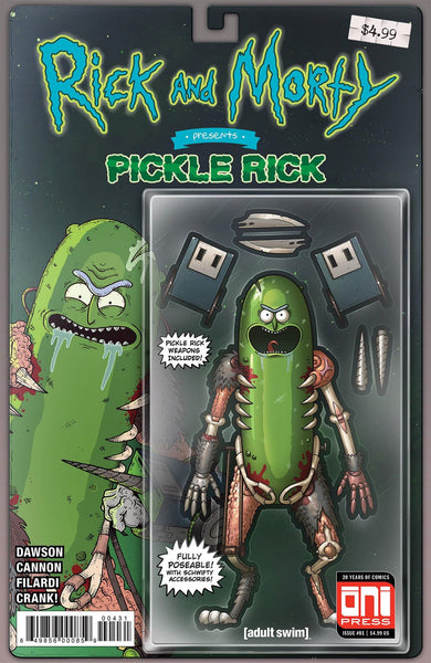 Rick & Morty Presents Pickle Rick 1 Oni Mike Vasquez Action Figure Variant (11/21/2018)